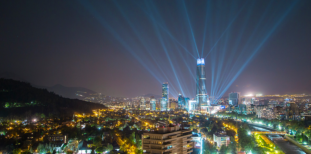 Costanera Tower, Festival of Light, Chile