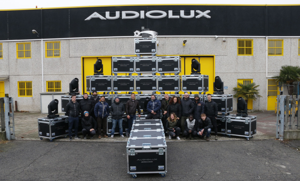 AUDIOLUX stocks up with 100 Claypaky Axcor Profile 600s