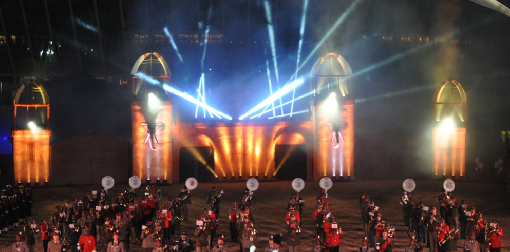 Clay Paky Sharpys Light Up the Sky for South African Military Tattoo