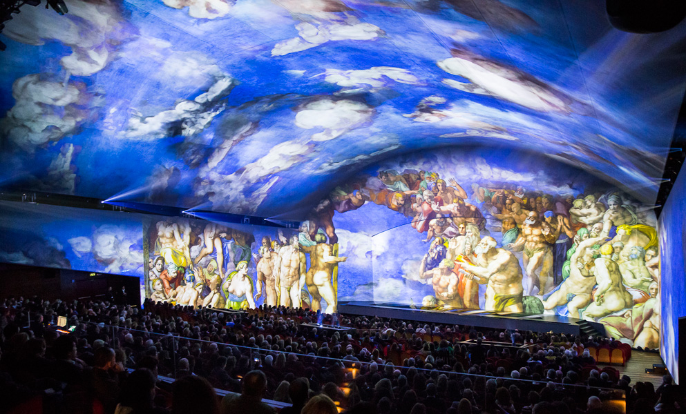 "Claypaky and ADB bring light to ""Giudizio Universale. Michelangelo and the Secrets of The Sistine Chapel"""