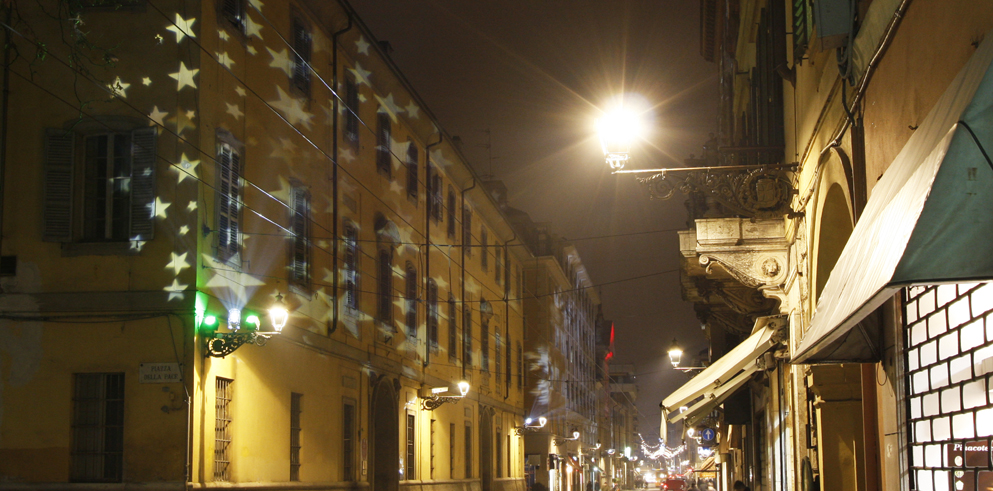 Clay Paky at Christmas in Parma with the illumination of the future