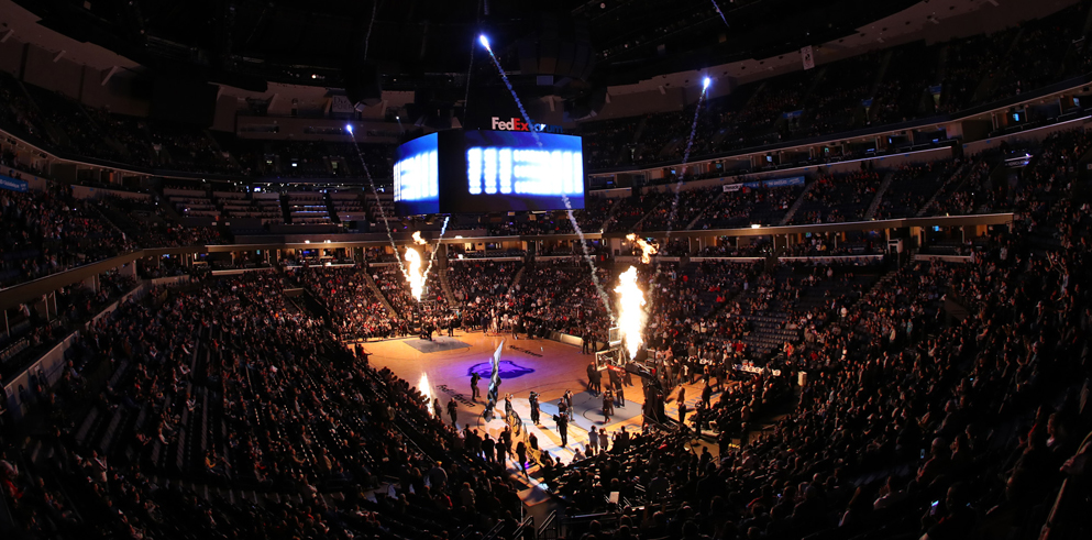 Bandit Lites Adds Claypaky Axcor Beam 300 LED Fixtures to FedExForum in Memphis