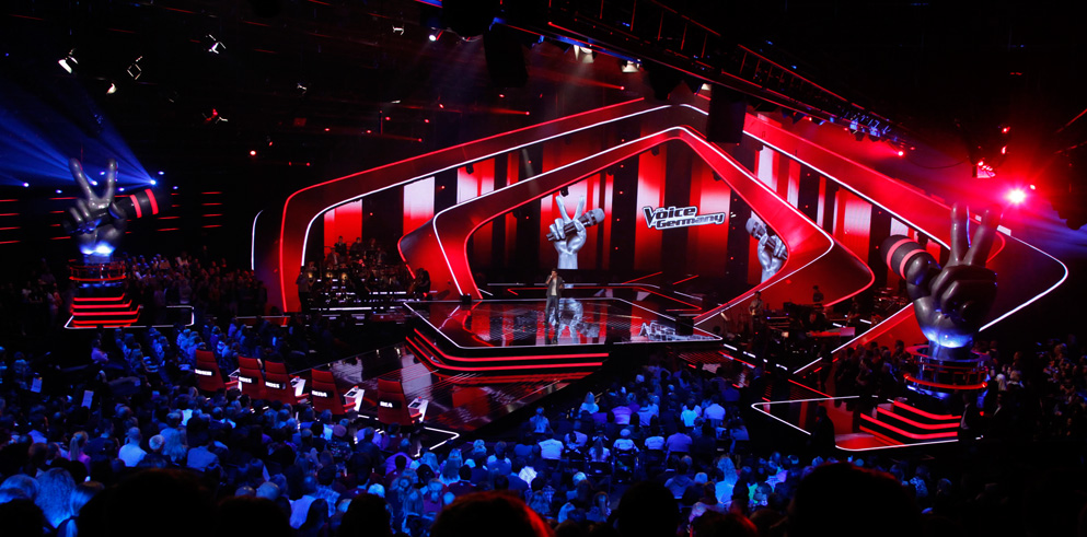 "Clay Paky at ""The Voice of Germany"" TV show"