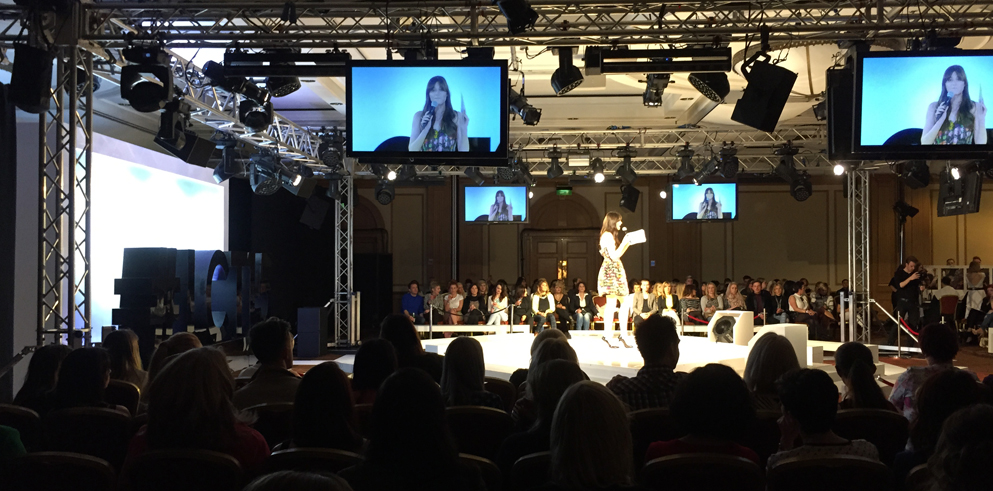 Clay Paky fixtures supplied by Fisher Productions for L'Oréal Colour Trophy Tour 2015