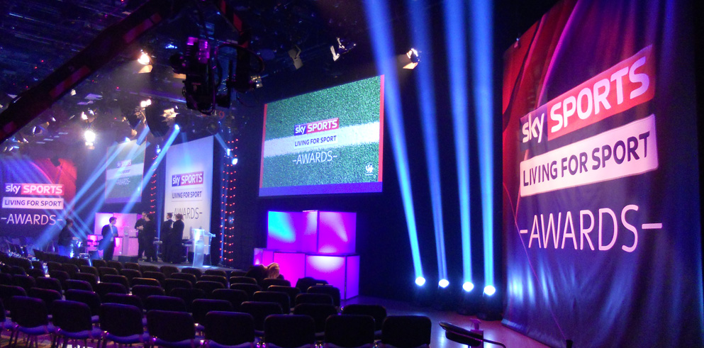 Clay Paky light the Sky Sports Living For Sport Awards