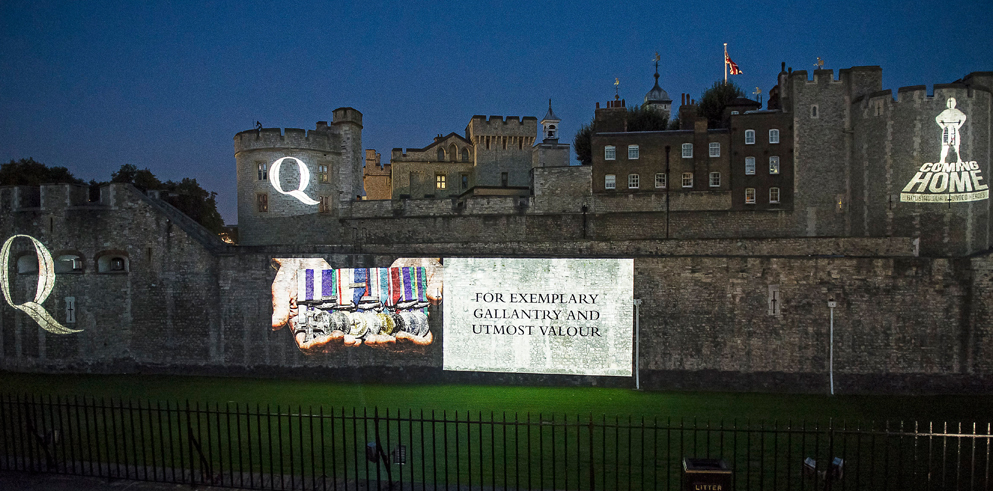 Clay Paky Mythos project for Queen and Country at the Tower of London