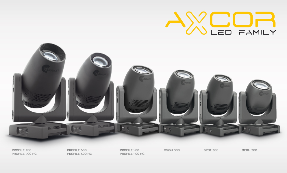 Claypaky adds Axcor Profile 600 and 400 to AXCOR LED Series