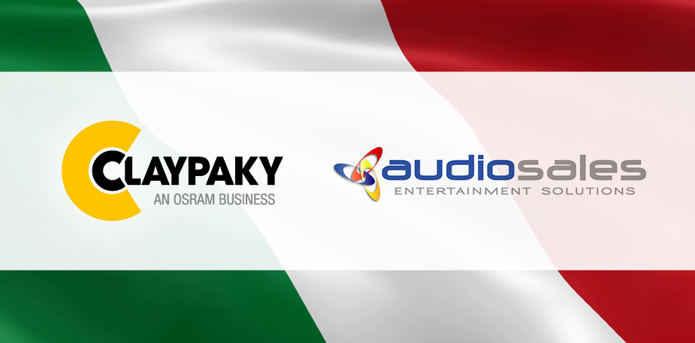 Audiosales officially becomes Claypaky's new distributor for Italy on 1 October 2020