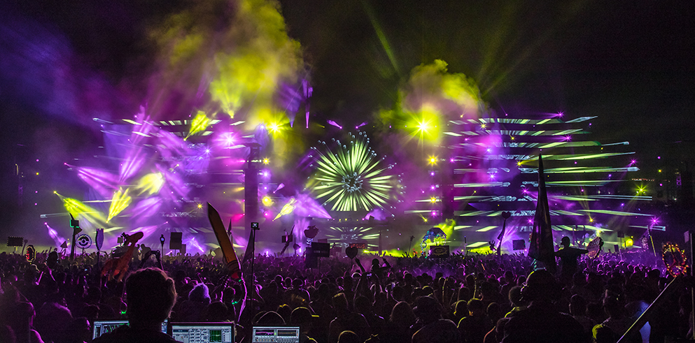 Clay Paky Fixtures Illuminate Nocturnal Wonderland Dance Music Festival