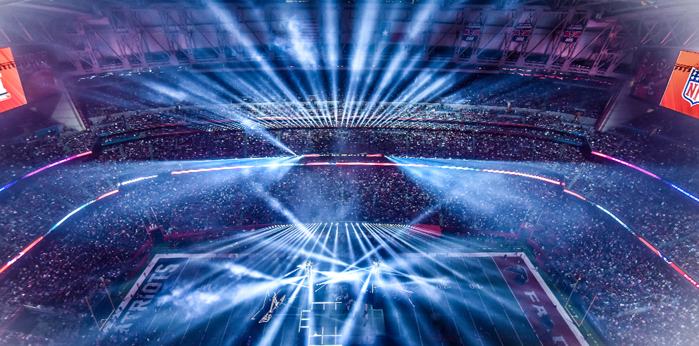 Claypaky Mythos and Sharpy Fixtures Light Up Lady Gaga's Super Bowl LI Halftime Show