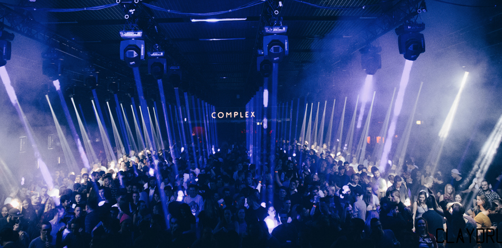 Claypaky Sharpy parties all night at Complex nightclub