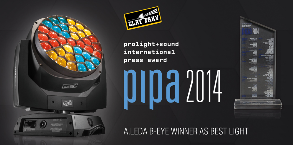 The Clay Paky B-EYE scores a triple crown at the 2014 PIPA Awards