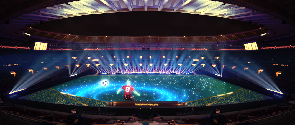 QVision illuminated the Amir Cup Final 2020 & inauguration of Ahmad Bin Ali Stadium Ceremonies with Claypaky lights