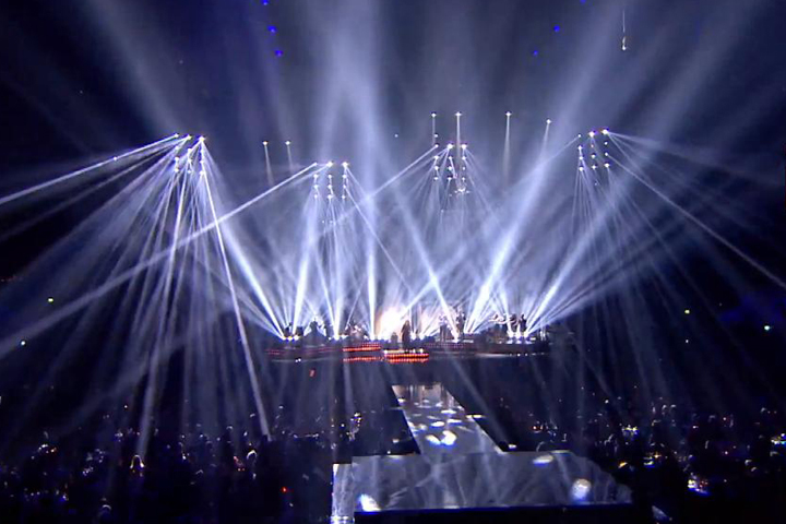 Adele performs at the Brit Awards 2012