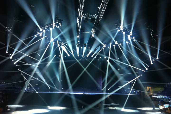 Clay Paky Sharpy illuminate the Carrie Underwood's World Tour