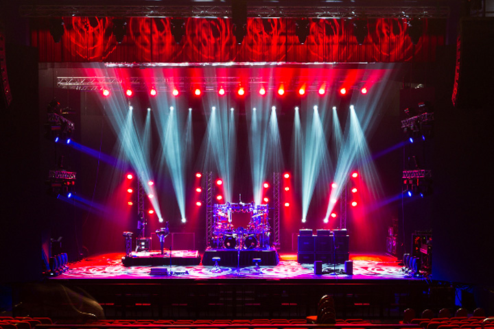 Dream Theater dramatically lit by Clay Paky HPE1500s - Photo credit: John Zocco