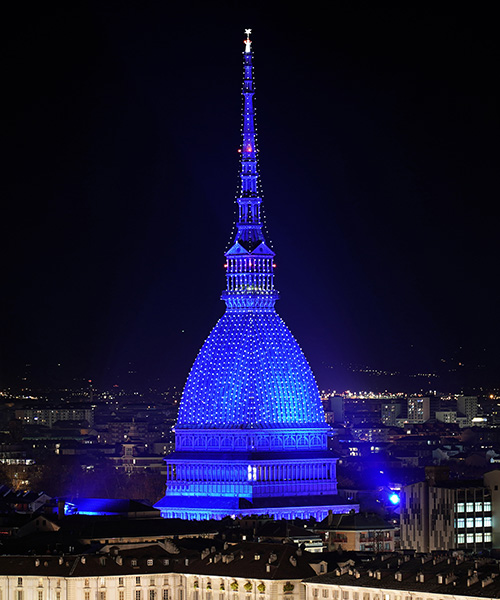 A new ClayPaky LED lighting system for the Mole Antonelliana