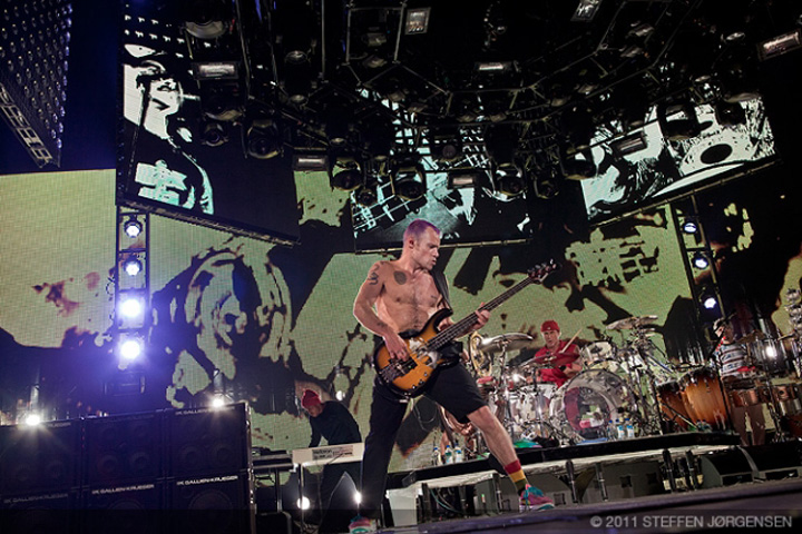 RHCP tour with Clay Paky Sharpys - Photo credit: Steffen Jorgensen