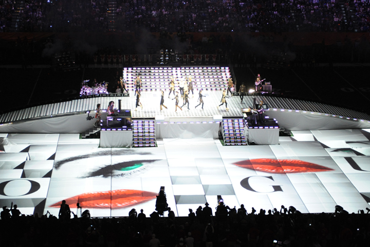 Sharpys Light Up Madonna's Stage at the Super Bowl Halftime Show