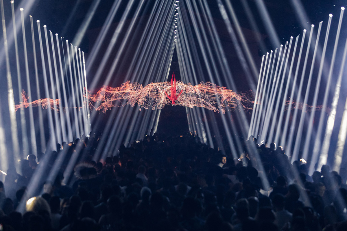 Afterlife 2020 Debuts in Dubai with 100 Claypaky Sharpys Creating a Massive Array of Beams
