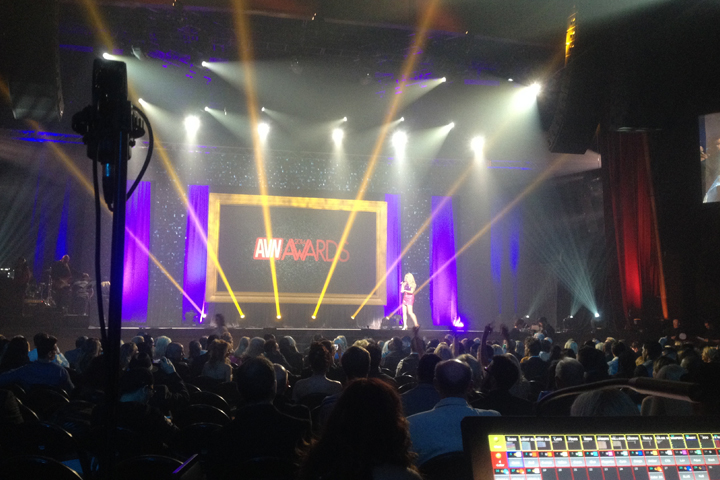 Clay Paky Lighting Does the Honors at the Interactive Achievement Awards and AVN Awards in Las Vegas