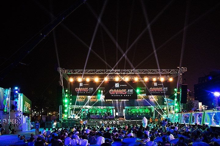 Clay Paky and Protec defy Dubai's summer temperatures to deliver another cool event at Games15 Middle East