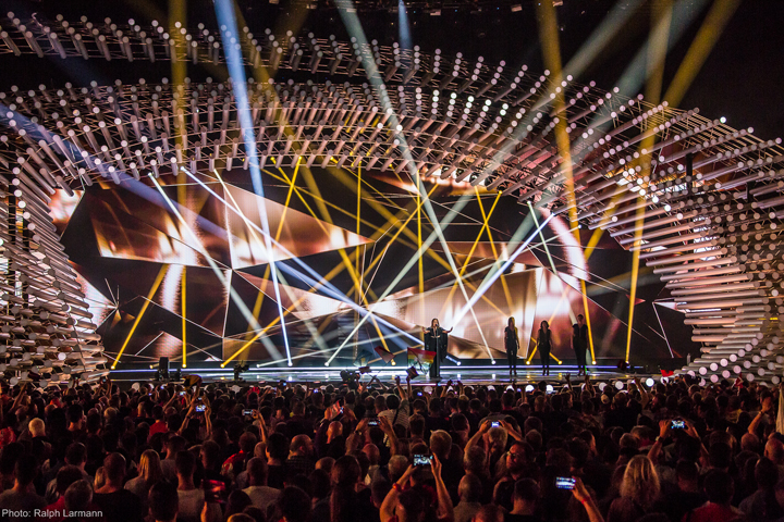 clay paky clay paky at eurovision song contest 2015. Black Bedroom Furniture Sets. Home Design Ideas