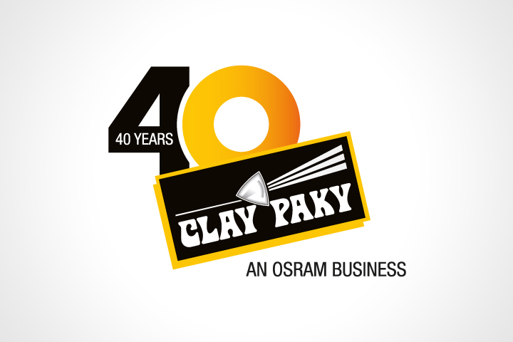 Clay Paky 40 Years celebration logo