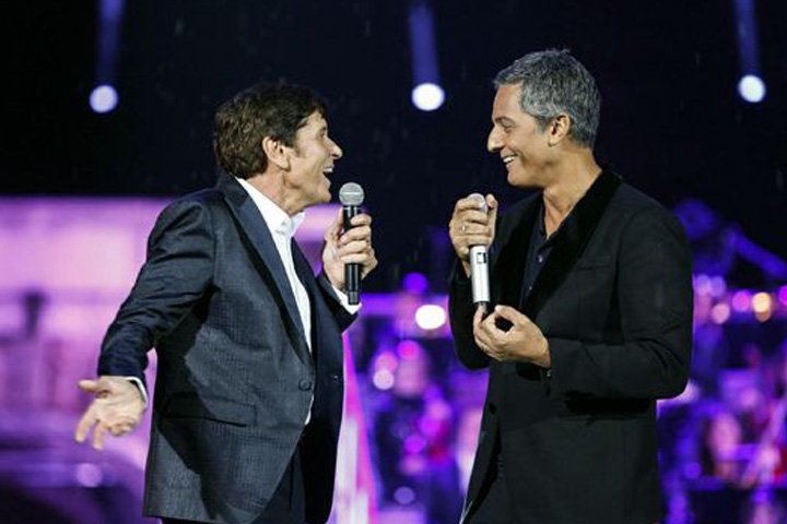 Clay Paky at the Arena with Gianni Morandi