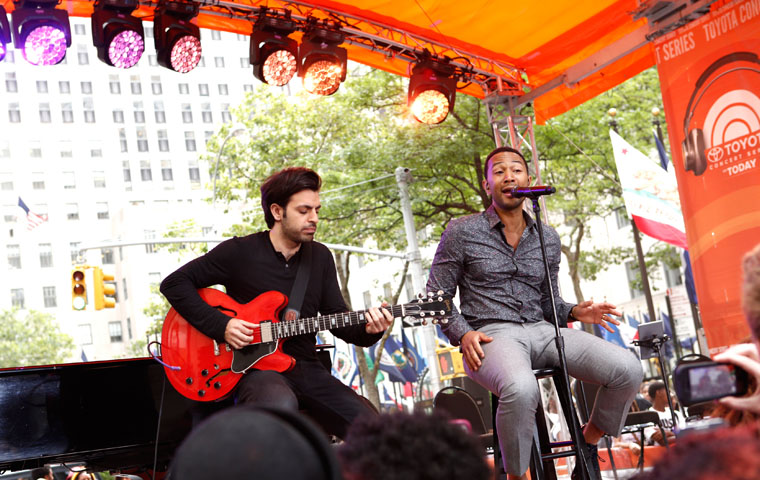 "Clay Paky B-EYEs at ""The Today Show"" Summer Concert Series in Rockefeller Plaza"