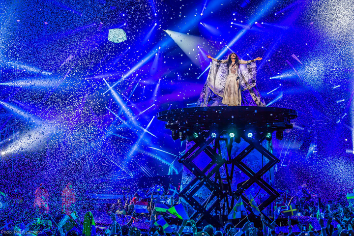 Clay Paky Conquers the 2013 Eurovision Stage - Photo credit: Ralph@Larmann.com