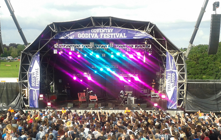 Clay Paky delivers powerful yet portable festival lighting at Godiva