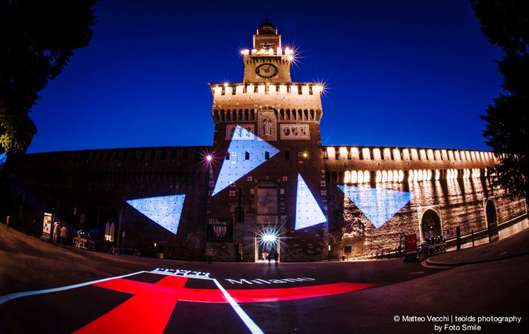 Clay Paky illuminates Sforza Castle to tell the story of Milan, past and present