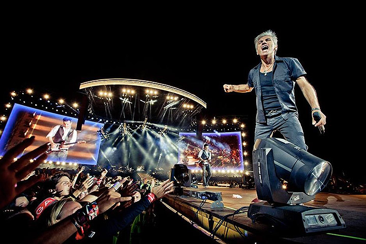 Clay Paky is a main attraction along with Ligabue at Campo Volo - Photo credit: Jarno Jotti