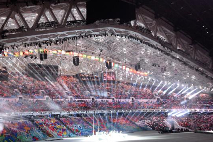 Clay Paky lights the Sochi Winter Olympic Games