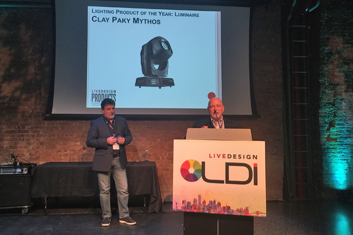Clay Paky Mythos named product of the year at the Live Design Awards