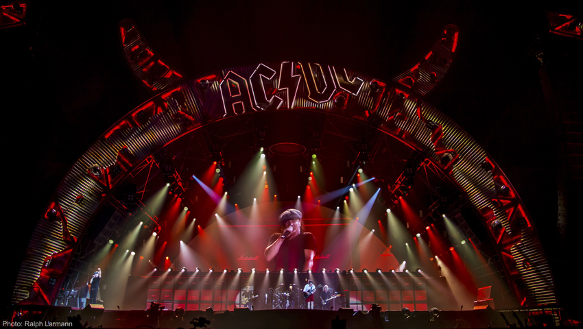 Clay Paky on tour with AC/DC, the legendary hard rock band