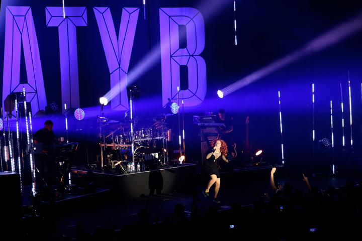 Clay Paky strobes up a storm on Katy B - Photo credit: Sarah Rusthon-Read