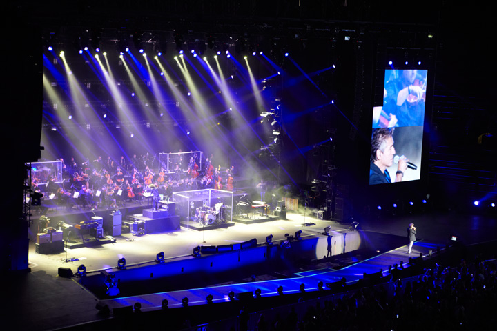 Clay Paky with Ligabue, and J Campana's spectacular lighting design