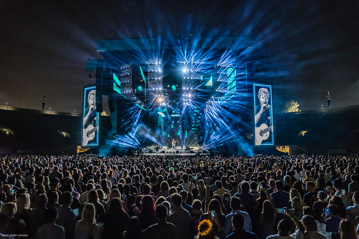 Claypaky Mythos 2 and Scenius Unico Fixtures Wrap Successful Ed Sheeran Divide Tour 2019