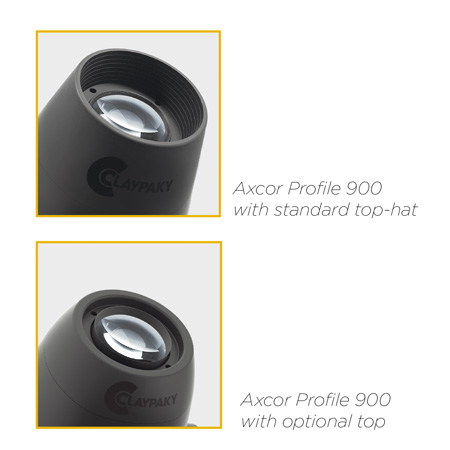 Axcor Profile 900 - Standard and optional top hat