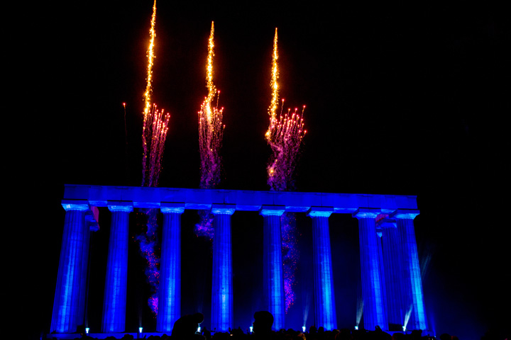 Claypaky Spheriscan delivers ethereal lighting effects at Edinburgh's Hogmanay