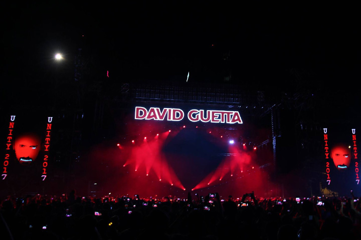 David Guetta shines with Claypaky at new Romanian dance festival