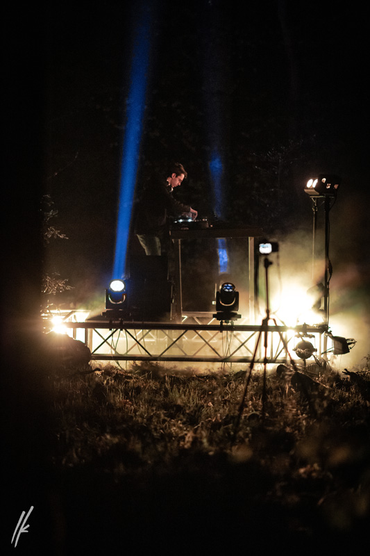 Houserasten's Forest Showcase in Germany Showcases DJ Morten Heuer with Claypaky Mini-B LED Moving Lights from Cube Entertainment