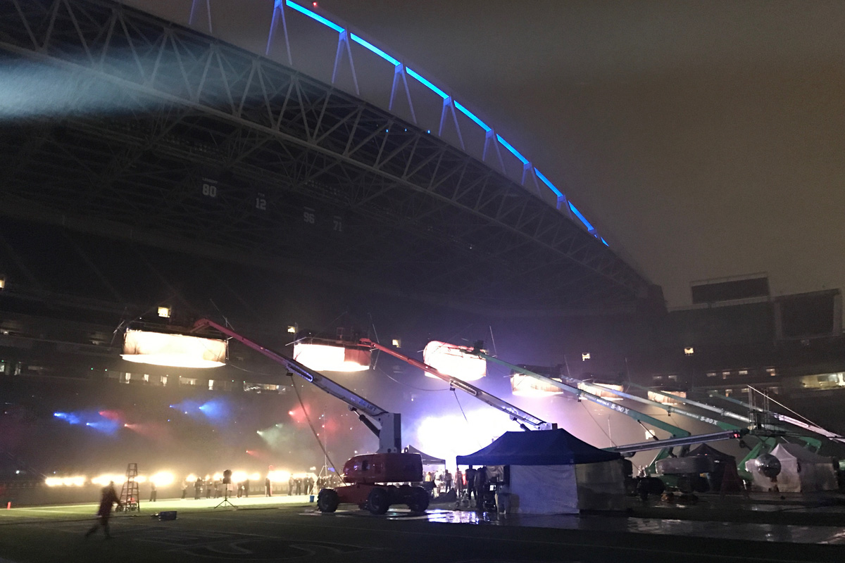 Lighting Designer Matt Ardine Scores with Claypaky Scenius and Sharpy Fixtures for Nike Alpha Menace Commercial Shoot