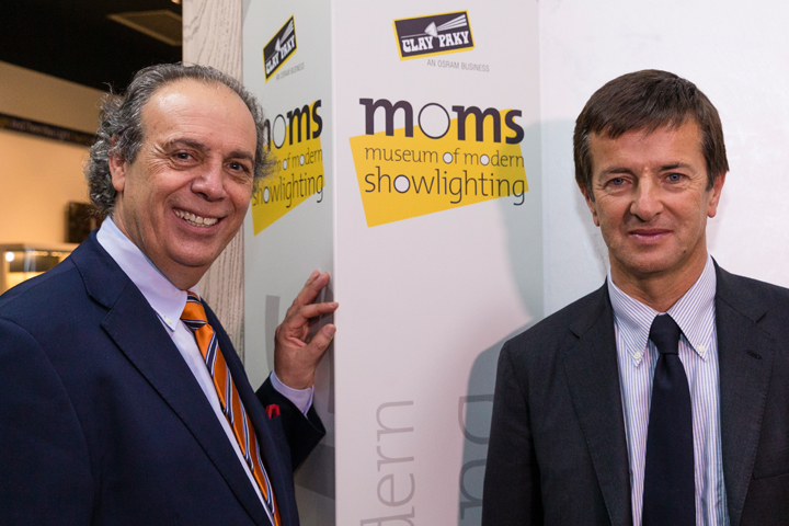 MoMS Inauguration - Pio Nahum (CEO Clay Paky) and Giorgio Gori (Major of Bergamo)