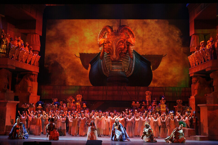 The Beijing Opera House presents AIDA, illuminated by Clay Paky