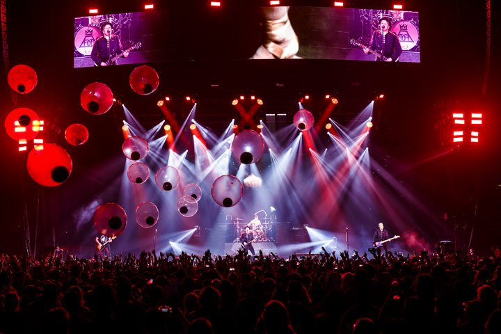 Versatile Clay Paky Mythos Fixtures Shine on Fall Out Boy Summer Tour